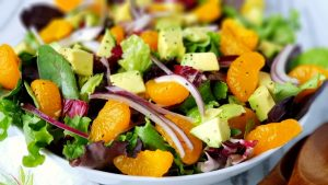 Avocado mandararin salad