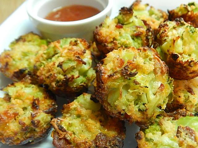Bacon Broccoli Bites [microwave + deep-frying]