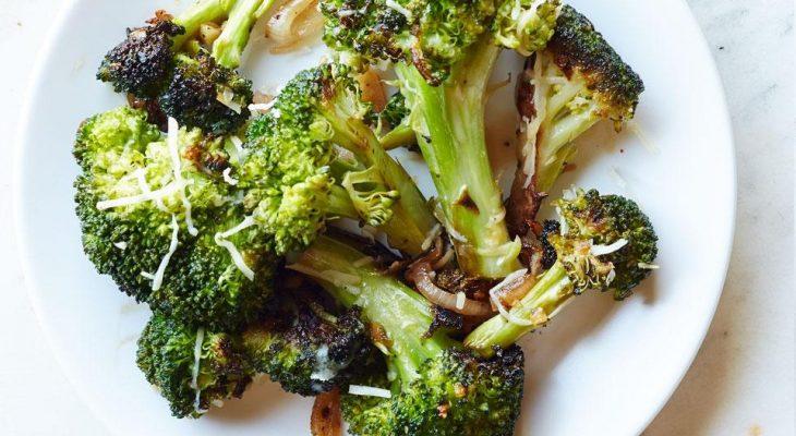 Balsalmic broccoli with parmesan