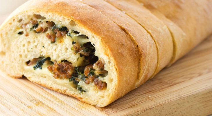 Bread Loaf Stuffed with Spinach