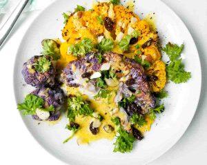 Cauliflower curry-colorful
