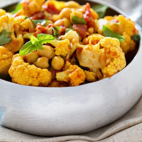 Cauliflower indian spiced