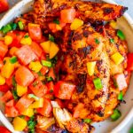 Chicken and watermelon salsa