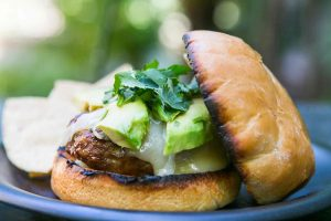 Chipotle asian sirloin hamburgers