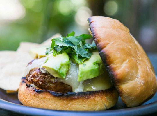 Chipotle asian sirloin hamburgers