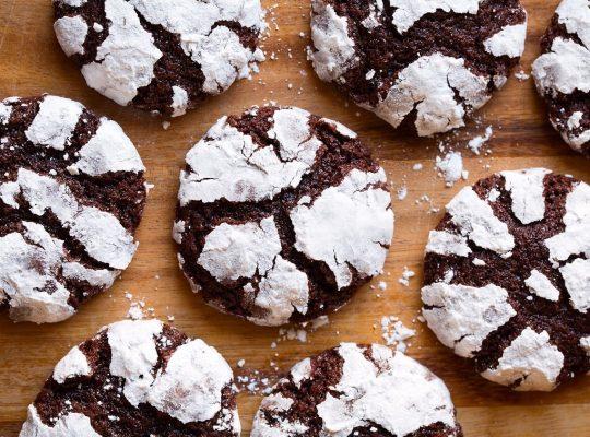 Chocolate Crinkles Cookies Dessert