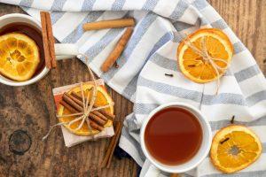 Cinnamon spiced orange tea party