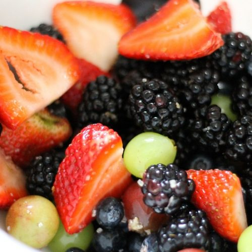 Fresh fruits with a zing