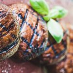 Grilled portabello mushrooms