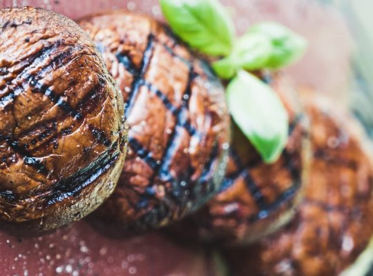 Grilled portabello mushrooms