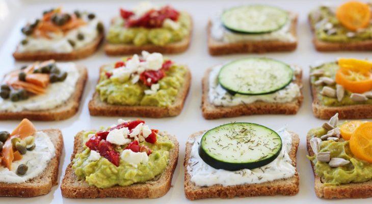 Healthy fancy sandwiches