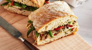 Healthy fancy sandwiches