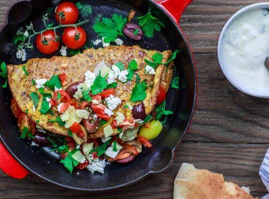 Incredible medtiterrean omelette