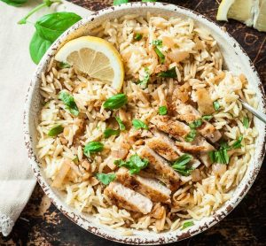 Lemon orzo chicken