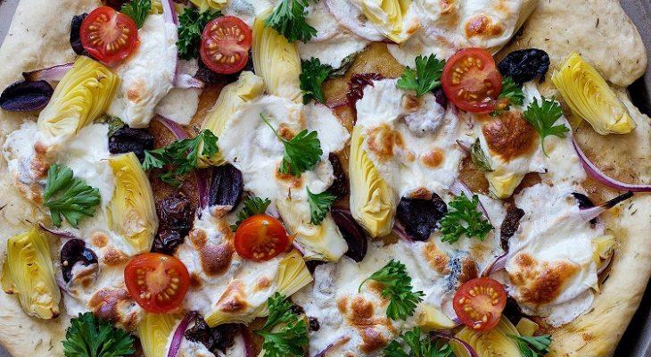 Mediterranean pizza topping