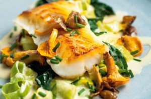 Pan-roasted cod