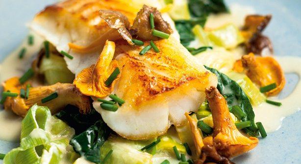 Pan-roasted cod