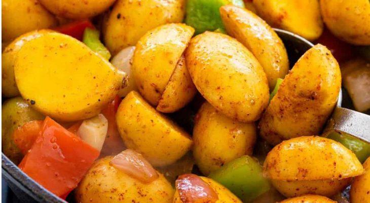 Potato pepper pan