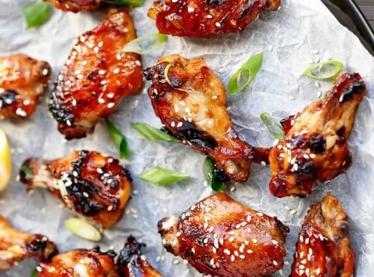 Sesame chicken drumsticks with dip