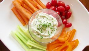 Simple savory dip and veggies