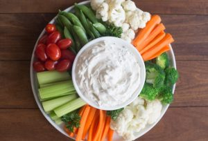 Simple savory dip and veggies