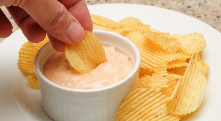 Sour cream orange dip