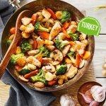 Turkey ginger stir-fry