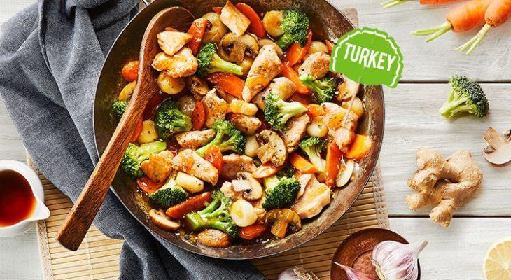 Turkey ginger stir-fry