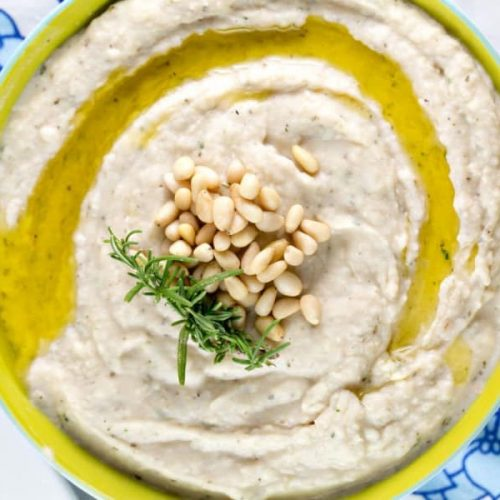 White bean dip with garlic