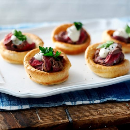 Yorkshire Mini's With Beef & Horseradish Dressing