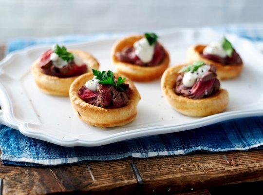 Yorkshire Mini's With Beef & Horseradish Dressing