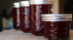 Rhubarb Muscat Wine Jam